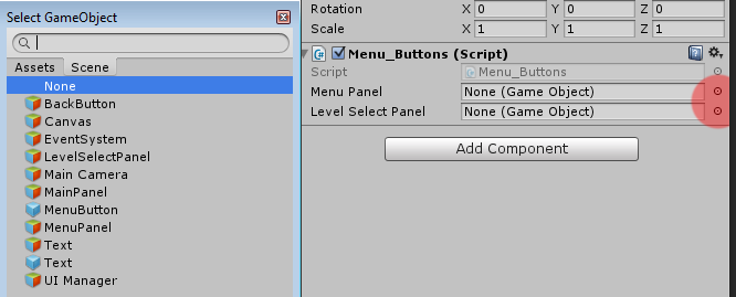 Unity Tutorial 2D Menu Vertical UI Manager OctoMan