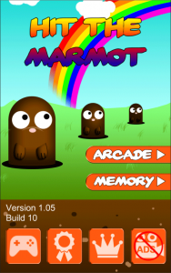 Hit the Marmot - Whack a mole - Menu