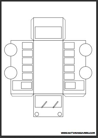 Papercraft Bus A4 Octoman Games