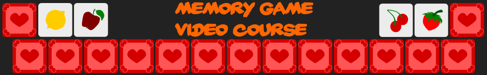 Memory Game Online Video Course Udemy