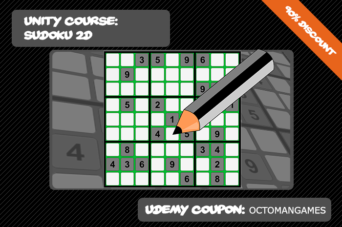 Sudoku Unity Online Course on Udemy