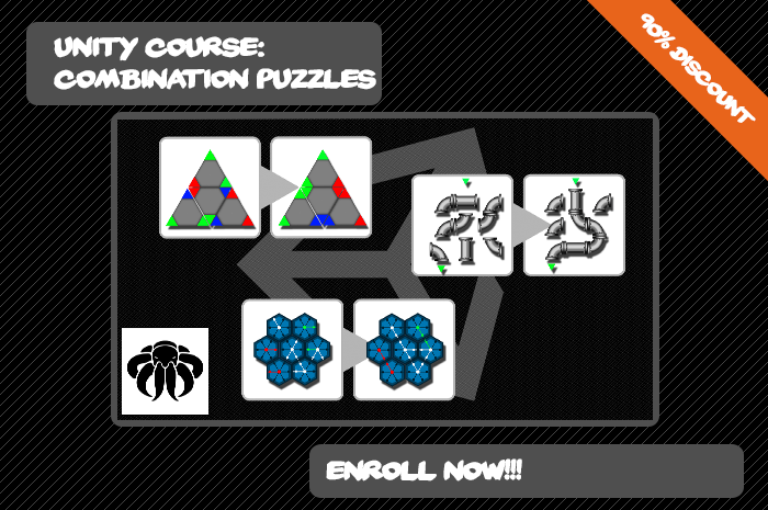 Combination Puzzles Unity Course OctoMan Games