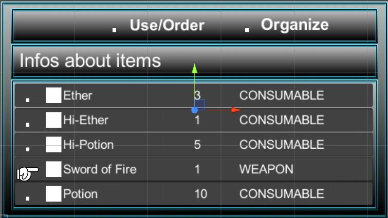 Crono Trigger Inventory